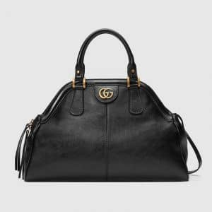 Gucci Black RE(BELLE) Medium Top Handle Tote Bag