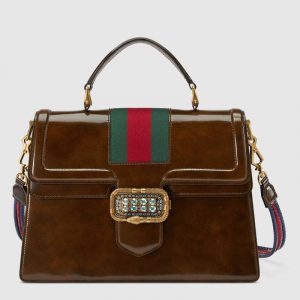 Gucci Brown Medium Top Handle Bag