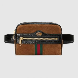 Gucci Chestnut Suede Ophidia Small Belt Bag