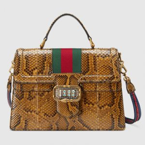 Gucci Honey Python Medium Top Handle Bag