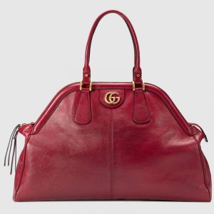 Gucci Red RE(BELLE) Large Top Handle Tote Bag