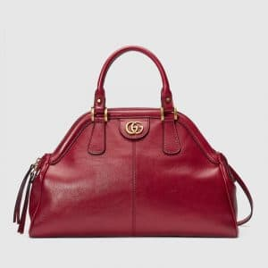 Gucci Red RE(BELLE) Medium Top Handle Tote Bag