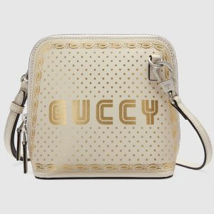 Gucci White Guccy Print Mini Shoulder Bag