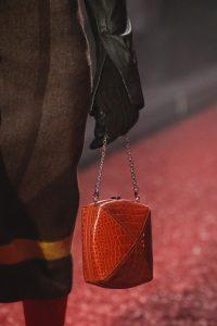 Hermes Red Crocodile Clou Medor Mini Bag - Fall 2018