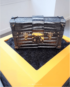 Louis Vuitton Black Crocodile Petite Malle Bag - Fall 2018