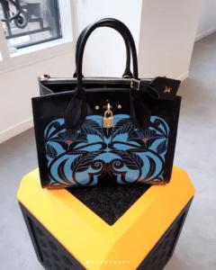 Louis Vuitton Black/Blue Printed City Steamer Bag - Fall 2018