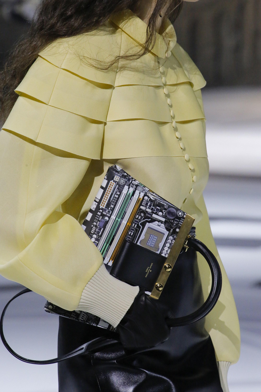 6c82ed57f32a Louis Vuitton Black Gold Printed Top Handle Bag 3 - Fall 2018