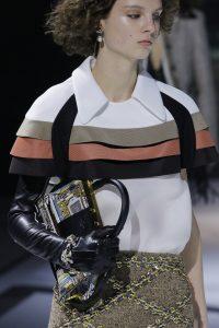 Louis Vuitton Black/Gold Printed Top Handle Bag - Fall 2018