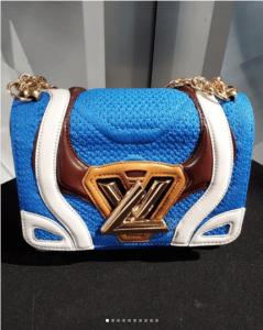 Louis Vuitton Blue Fabric/Leather Twist Bag - Fall 2018
