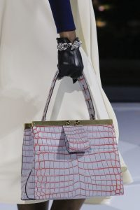 Louis Vuitton Gray/Red Crocodile Top Handle Bag - Fall 2018
