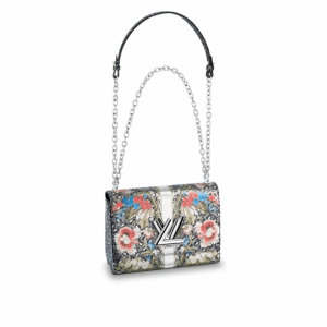 Louis Vuitton Multicolor Floral Print Twist MM Bag
