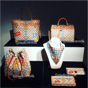 Louis Vuitton Summer Trunks Damier Azur Bags and Small Leather Goods