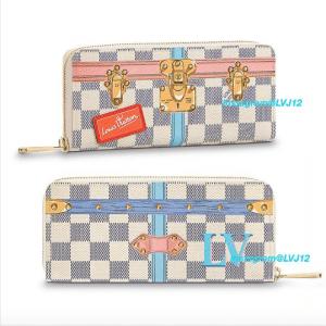 Louis Vuitton Summer Trunks Damier Azur Clemence Wallet