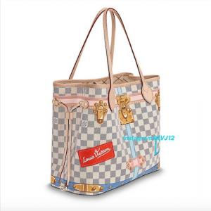 Louis Vuitton Summer Trunks Damier Azur Neverfull MM Bag 2