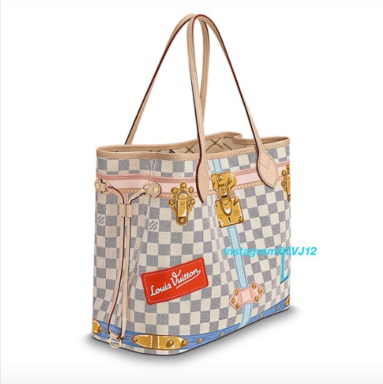 629d7170698b Louis Vuitton Summer Trunks Damier Azur Neverfull MM Bag 2. IG  lvj12