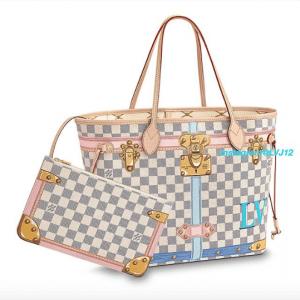 Louis Vuitton Summer Trunks Damier Azur Neverfull MM Bag