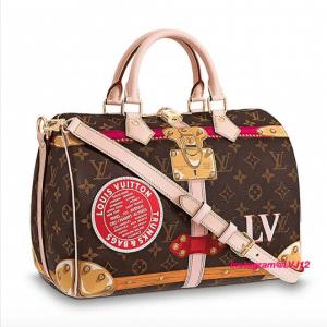 Louis Vuitton Summer Trunks Monogram Canvas Speedy Bandouliere 30 Bag