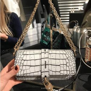Louis Vuitton White Croc Flap Bag - Fall 2018
