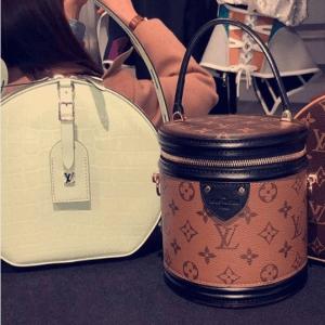 Louis Vuitton White Crocodile Petite Boite Chapeau and Monogram Reverse Bucket Bag - Fall 2018