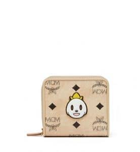MCM x Eddie Kang Loveless Visetos Mini Zip Wallet