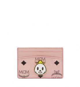 MCM x Eddie Kang Soft Pink Loveless Card Case