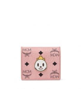 MCM x Eddie Kang Soft Pink Loveless Visetos Two Fold Wallet