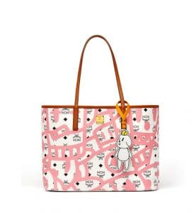 MCM x Eddie Kang White Reversible Shopper Bag