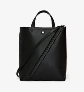 Proenza Schouler Black Mini Grain Hex Tote Bag