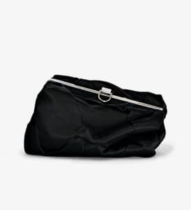 Proenza Schouler Black Silk Asymmetrical Frame Clutch Bag