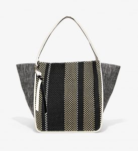 Proenza Schouler Black/White/Ecru Woven Extra Large Tote Bag