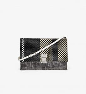 Proenza Schouler Black/White/Ecru Woven Small Lunch Bag