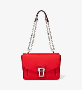 Proenza Schouler Cardinal Pebbled Leather Hava Chain Shoulder Bag