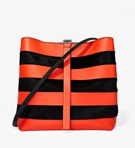 Proenza Schouler Hot Coral/Black Frame Shoulder Bag