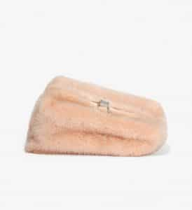 Proenza Schouler Light Pink Mink Asymmetrical Frame Clutch Bag