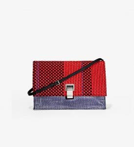 Proenza Schouler Red/Blue Woven Small Lunch Bag
