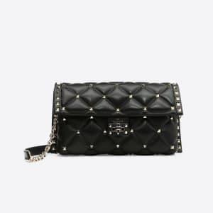 Valentino Black Candystud Shoulder Bag