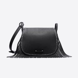Valentino Black Fringed Shoulder Bag