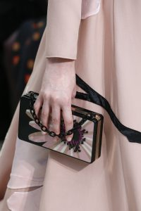 Valentino Black/Pink Floral Minaudiere Bag 2 - Fall 2018