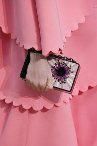 Valentino Black/Pink Floral Minaudiere Bag - Fall 2018