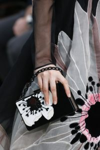 Valentino Black/White Floral Minaudiere Bag - Fall 2018