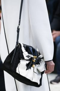Valentino Black/White Floral Shoulder Bag - Fall 2018