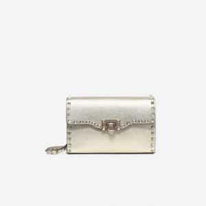 Valentino Gold Rockstud Small Crossbody Bag
