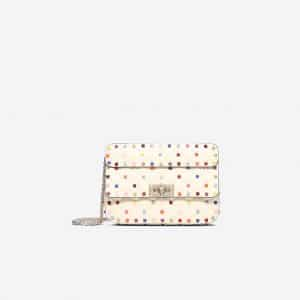 Valentino Ivory Rockstud Spike Small Chain Bag