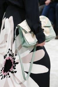 Valentino Light Green Floral Print Shoulder Bag - Fall 2018