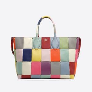 Valentino Multicolor Puzzlestud Tote Bag