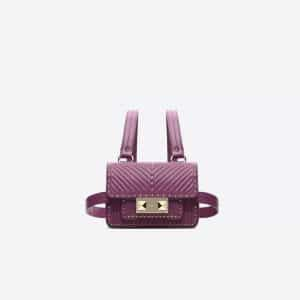 Valentino Purple Ziggy Stud Mini Body Bag