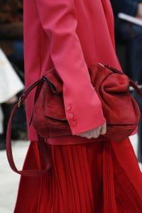 Valentino Red Suede Shoulder Bag - Fall 2018