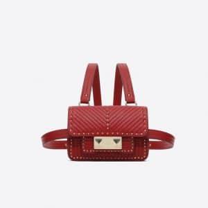 Valentino Red Ziggy Stud Mini Body Bag
