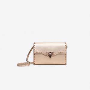 Valentino Rose Gold Rockstud Small Crossbody Bag