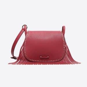 Valentino Rubin Fringed Shoulder Bag
